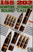 AFV Club 155mm 203mm Howitzer Round & Stowage Case