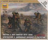 "Zvezda British 3 inch Mortar w Crew ""1939-1945"""