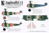 "Blue Rider Fokker Dr.I Triplane ""Jasta 11 1918"" - Decals"