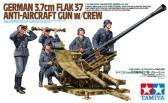 Tamiya 3,7cm FlaK 37 Anti-Aircraft Gun w Crew