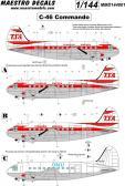 """Maestro Models C-46 Commande """"TransAir"""" - Decals"""