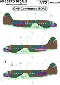 "Maestro Models C-46 Commando ""BOAC"" - Decals"