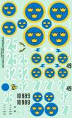 Flying Colors Aerodecals J8 (Gladiator), J9 (Sevesky P35A), J11 (Fiat CR.42), J20 (Re-2000)