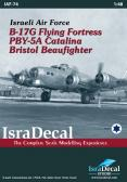 IsraDecal IAF B-17E, Catalina, Beaufighter