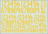 Flying Colors Aerodecals Swedish Thin Numerals 1936-62, Yellow
