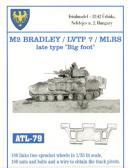 "Friulmodel M2 Bradley/LVTP7/MLRS ""Late Type Big Foot"" - Track Links"