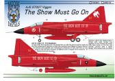 """Moose Republic Decals AJS 37027 """"The Show Must Go On"""""""