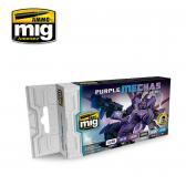 Ammo Mig Jimenez Purple Mechas Color Set