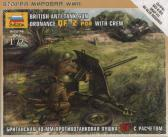 Zvezda British Anti-Tank Gun QF 2-PDR w Crew