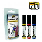 Ammo Mig Jimenez Oil Brusher, Basic Color set