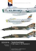 Dutch Decal 2th USAFE North-American F-86F, McDonnell F-4E Phantom - Decals