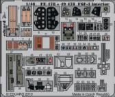 Eduard F6F-3 Hellcat - Interior - Color Self Adhesive Photo Etch Set (HBB)