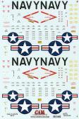 CAM-Custom Aeronautical Miniatures Hi-Viz National Insignia and data stencilling etc for 2 x US Navy or US Marines