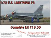 Heritage Aviation Models E.E. Lightning F6