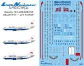 """Lima November Decals Braathens Boeing 737-405/505/705 """"Last Scheme"""" - Decals"""