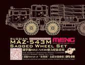 Meng MAZ-543M Sagged Wheel Set