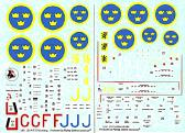 Flying Colors Aerodecals J26 (P51D Mustang), S31 (Spitfire Mk.XIX)