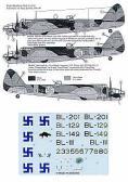 InScale Bristol Blenheim Mk.I, Mk.II, Mk.IV 1941-44 - Decals