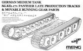 Meng Sd.Kfz.171 Panther Ausf. A (Late), Tracks and Running Gear