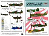 """Rising Decals """"Japanese Zoo"""" Allied Aircraft Tested by Japanese, Part 2 - Decals"""